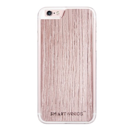 CASE ETUI DREWNIANE SMARTWOODS RÓŻOWY ROSE GOLD IPHONE 6 PLUS / 6S PLUS